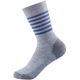 Devold Multi Medium Socks Kids, grijs/blauw